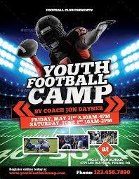 football flyer templates football camp flyer template free awesome youth flyer template free