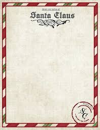 Free Letter From Santa Word Template Letter From Template Word The Printable To Santa Doc Free