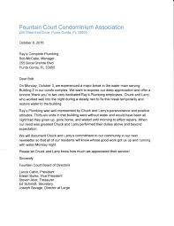about us ray s plumbing condominium association plumbing testimonial letter