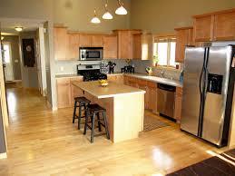 Kitchen With Hardwood Floors Unique Light Hardwood Floors With Dark Cabinets Brown Kitchen