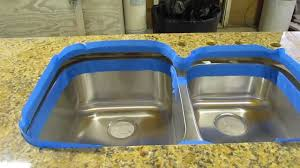Kitchen Sinks For Granite Countertops How To Install An Undermount Sink To A Granite Countertop Youtube