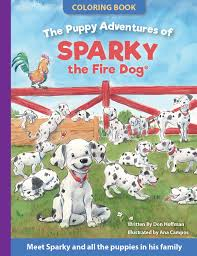 sparky the fire dog book. the puppy adventures of sparky fire dog coloring book