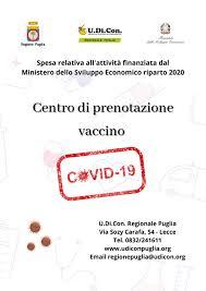 Prenota vaccino con UDICON - Istituto Pugliese per il Consumo