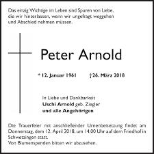 Traueranzeigen von Peter Arnold | Trauerportal Ihrer Tageszeitung