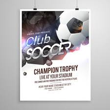 soccer team brochure template soccer sports brochure flyer design template download free vector