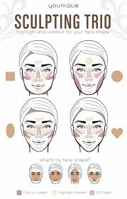 contour help based on your face shape try the new 3d sculpting trio from younique