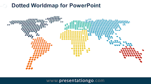 World Map Power Point Dotted Worldmap For Powerpoint Presentationgo Com
