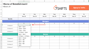 011 Monthly Work Rotation Schedule Template Shift Creation