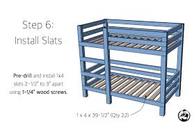 how to make a twin loft bed frame simple diy 2x4 bunk bed plans step 6