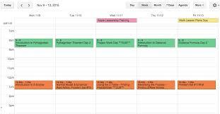Lesson Plans Calendars Slightly Skewed Using Google Calendar For Lesson Planning