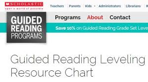 Scholastic Leveled Books Chart This Chart Indicates The
