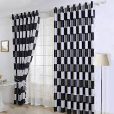 Contemporary Black And White Curtains Gray Decorating In Ideas