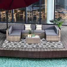 outsunny 7 piece outdoor patio
