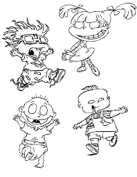 90s Cartoons Coloring Pages Coloring Home