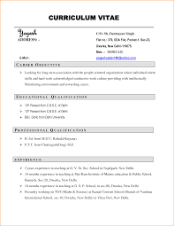11 Curriculum Vitae Sample Job Application Basic Job Appication