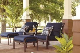Decorating Armchair And Ottoman Plus Navy Lowes Patio Cushions