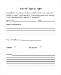 pto request template 25 time off request forms