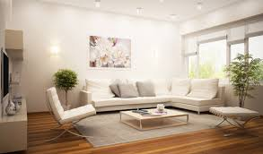 Modern Style Living Room Furniture Modern Living Room Design With White Leather Sofa Furnitur With