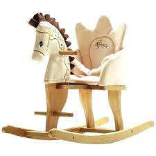 amish wooden rocking horse toy horses toys ride bikes home improvement s