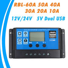 24V 12V Auto Solar Panel Battery Charge Controller <b>60A 50A 40A</b> ...
