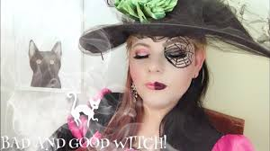 good and bad witch makeup tutorial 2018