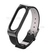 mijobs genuine leather wristband strap for xiaomi mi band 3 all black tvc mall com