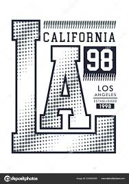 California Typography Design Background Black White Color Variants