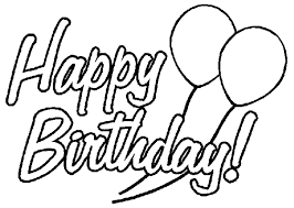 Happy Birthday Coloring Page Birthday Coloring Pages Of