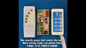 Bo mạch đa năng quạt hơi nước, chịu tải trên 200w, có remote điều khiển -  YouTube
