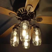 small kitchen ceiling fans with lights lovely mason jar ceiling fan light kit new quart jars