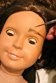 american step by step directions on how to turn a doll makeup image led make
