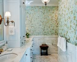 Image of Designer Wallpaper For Bathrooms With goodly Small Bathroom Ideas  With Designer Wallpapers Modern Great