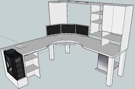 Custom L Shaped Desk Plans
