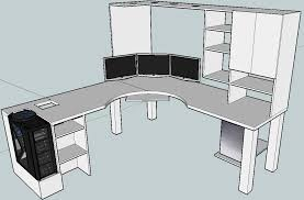 custom l shaped desk plans