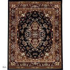 persian style carpet traditional oriental area rug 5 x 8 black free