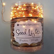 seed fairy lights 200 bulb copper