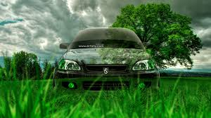 honda civic jdm crystal nature car