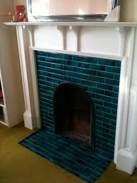 image result for 1930s tiled fireplace