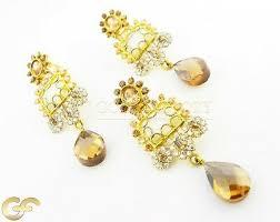 21ct gold pendant earring set bg10