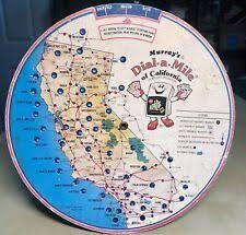 Murrays Dial A Mile Map Of California Mileage Calculator