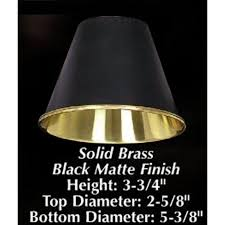 5 3 8 brass black clip on chandelier and wall sconce lamp shade