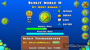 nivel sunlit world ll geometry dash  nivel sunlit world ll geometry dash 2 1