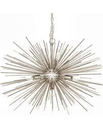 gold sputnik chandelier. Emme Starburst 12 Light, Brushed Gold Sputnik Chandelier, Polished Nickel, 29\ Chandelier S