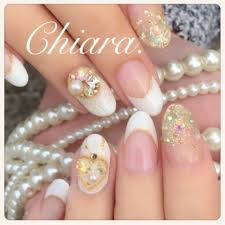 Yokoshikataキアラさんのネイルデザイン 冬ネイルホワイトネイル
