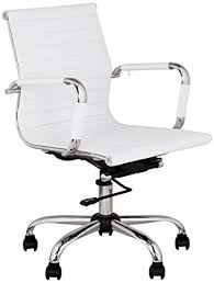 office chair white leather. White Leather Office Chair Pertaining To Amazon Com Serge Low Back Swivel Kitchen Dining Designs 0 E