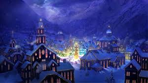 christmas town wallpaper. Contemporary Wallpaper Christmas Landscapes  Village Square HD Wallpaper  FullHDWpp   Full  Throughout Town H