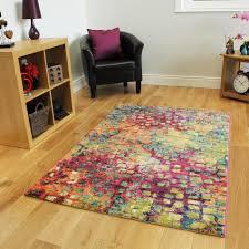 Designer Floor Rugs Multi Coloured Contemporary Floor Rug Stella