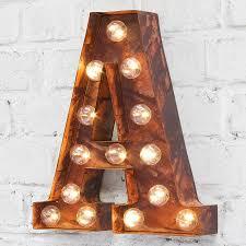 letter lighting. Carnival Letter Lights \u0027A To Z\u0027 Rust Lighting
