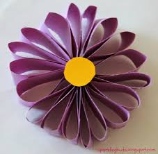Flower Out Of Paper Easy Paper Flower Sparklingbuds
