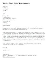 Sample Cover Letter For New Grad Nurse Graduate Nursing Program Cover Letter Sample Examples New Grad Nurse